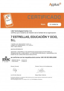 Certificado de Calidad ISO 9001 Siete Estrellas